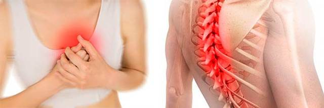 Может ли остеохондроз отдавать в молочную железу: причины появления симптома, возможные осложнения, диагностика и способы медикаментозного лечения