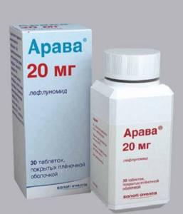 Арава: форма выпуска и лечебное действие, состав и побочные эффекты, показания и противопоказания к применению, необходимые дозировки