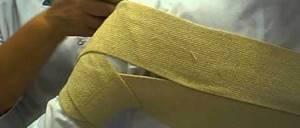 Черепашья повязка на локтевой сустав