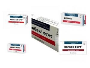 Мелбек Форте: состав и форма выпуска препарата, показания и противопоказания для применения, механизм действия и стоимость, лекарственное взаимодействие